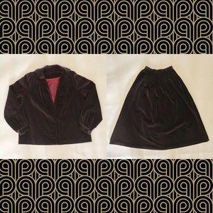 Vintage 70s Patty Woodard 2-Piece Blazer Skirt Set